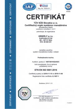grizzly iso 9001 TUV